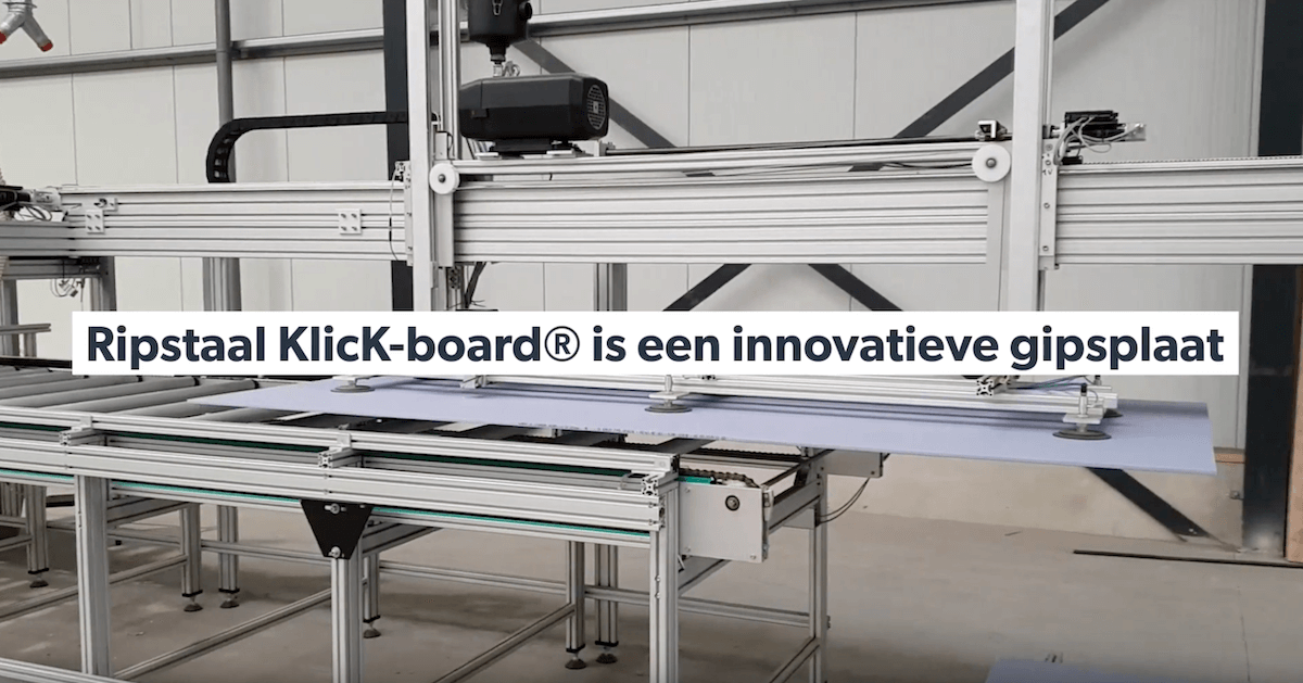 Ripstaal klickboard nieuwe machine innovatieve gipsplaat